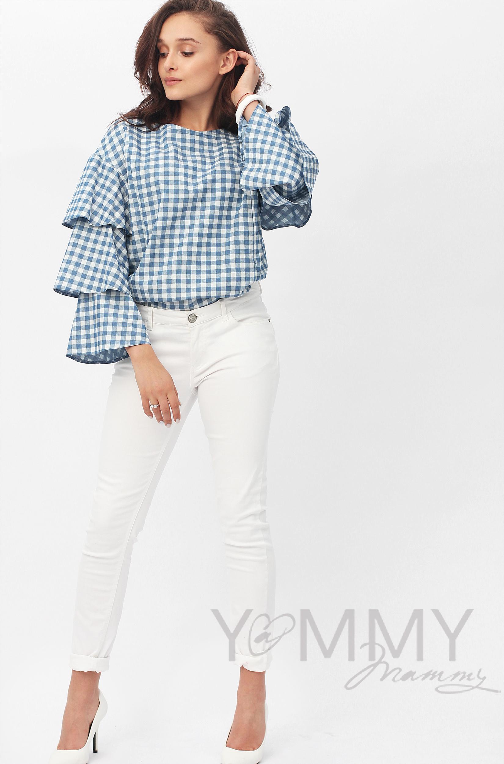 Y@mmy Mammy/scoro/ym_bluza_jeans_blue_volan_kletka11.jpg
