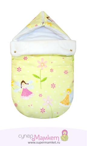 Летний трикотажный конверт-одеяло Стиляжка на выписку в роддом.